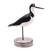 Wood decorative accent, 'Black-Necked Stilt' - Beach Cottage Wood Bird Decorative Accent from Bali (image 2a) thumbail