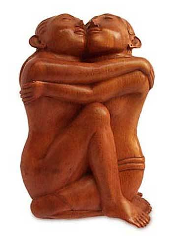 Artisan Crafted Suar Wood Sculpture