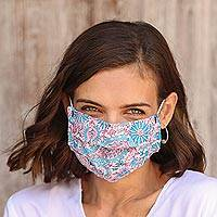 Cotton face masks 'Batik Inspiration' (set of 3) - Set of 3 Single Layer Cotton Print Elastic Loop Face Masks