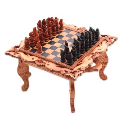 Handcarved Wood Chess Set
