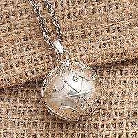 Sterling silver harmony ball necklace, 'Angel Call' - Balinese Sterling Silver Harmony Ball Necklace 20 Inch Chain