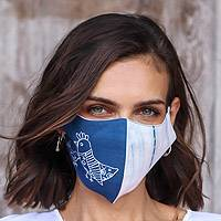 Natural dyes cotton batik face masks, 'Natural Beauty' (set of 3) - Hand Painted Cotton Face Masks with Natural Dyes (Set of 3)