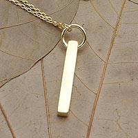 Gold-plated pendant necklace, 'Under the Sun' - Hand Crafted Gold-Plated Sterling Silver Pendant Necklace