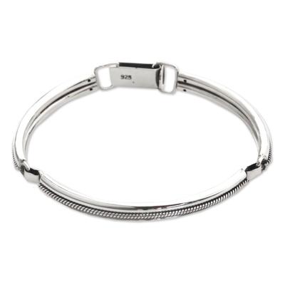 Handmade Sterling Silver Bangle Bracelet