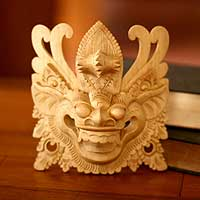 'Barong III,' mask - Hand Made Cultural Wood Mask