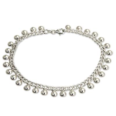 Novica Handmade Sterling Silver Anklet Jewelry
