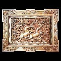 'Racing Horses,' relief panel - Hand Made Wood Relief Panel