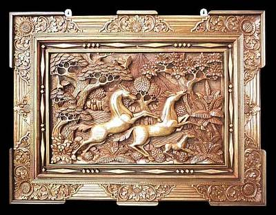 Hand Made Wood Relief Panel