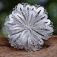 Sterling silver brooch pin,