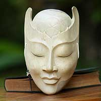 Wood mask, 'Blossom Head'