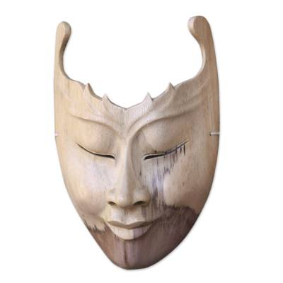Modern Hibiscus Wood Mask