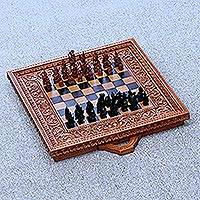 Wood chess set, 'Gods of War'
