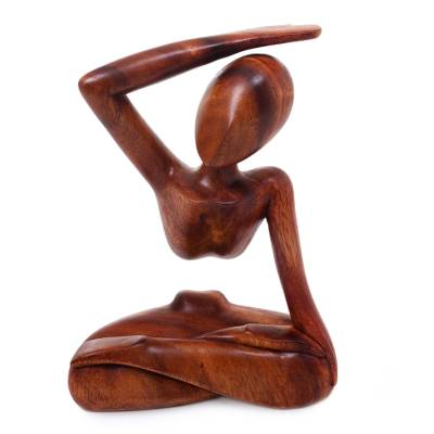 Original Wood Yoga Sculpture