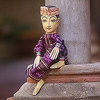 Wood display doll, 'Mr Bali' - Wood display doll