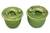Ceramic condiment bowls, 'Lithe Gecko' (pair) - Indonesian Green Ceramic Condiment Bowls (Pair) thumbail