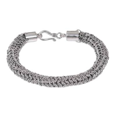 Handmade Sterling Silver Bracelet from Indonesia