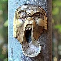 Wood mask,