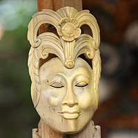 Wood mask, 'Princess Dream'