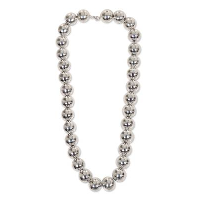Sterling silver strand necklace