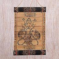 Palm leaf wall hanging, 'Symbol of God' - Palm leaf wall hanging