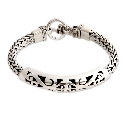 Artisanmade Sterling Silver Braided Bracelet
