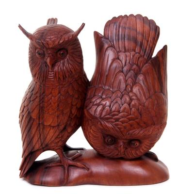 Hand Made Wood Bird Sculpture