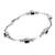 Onyx link bracelet, 'Black Rice Seeds' - Sterling Silver Onyx Bracelet from Indonesia (image 2b) thumbail