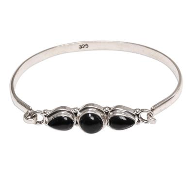 Onyx bangle bracelet