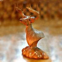 Wood statuette Proud Stag Indonesia