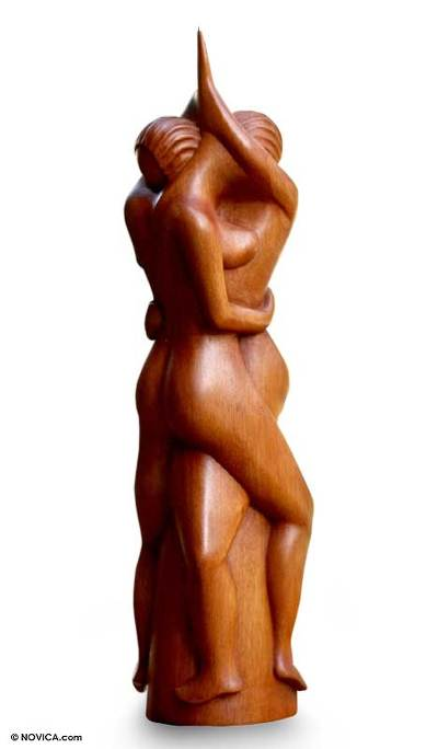 Romantic Suar Wood Sculpture