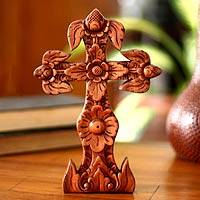 Mahogany cross, 'Forest' - Mahogany cross