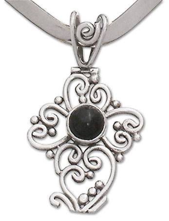 Onyx Sterling Silver Collar Necklace