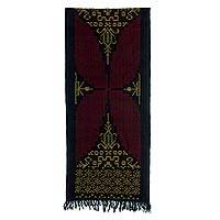 Cotton ikat wall hanging,