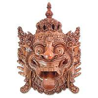 Wood mask, 'Baruna, God of the Sea' - Carved by Hand Cultural Mask
