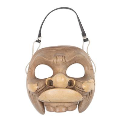 Artisan Crafted Unique Hibiscus Wood Balinese Mask