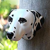 Wood mask, 'Spotty, the Dalmatian' - Wood mask