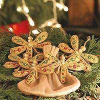 Ornaments Dragonfly Magic set of 5 India