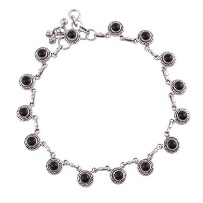 Onyx and Sterling Silver Ankle Jewelry from India