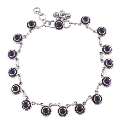Amethyst Anklet Hand Made Sterling Silver Jewelry