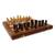 Wood chess set, 'Wisdom' - Fair Trade Chess Set Handcarved Wood with Velvet Lining thumbail