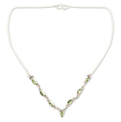 Artisan Jewelry Peridot Pendant Necklace