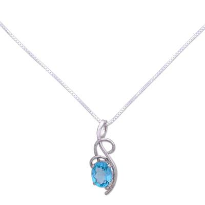 Topaz pendant necklace