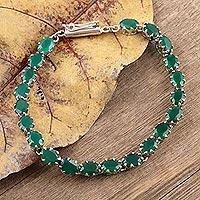 Onyx bracelet, 'Aura of Life' (India)