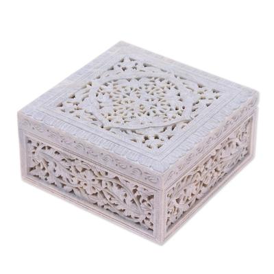 Indian Jali Soapstone Jewelry Box