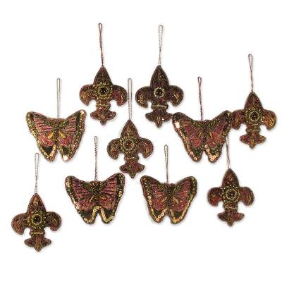 Beaded ornaments (Set of 10)