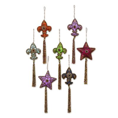 Beaded ornaments (Set of 7)