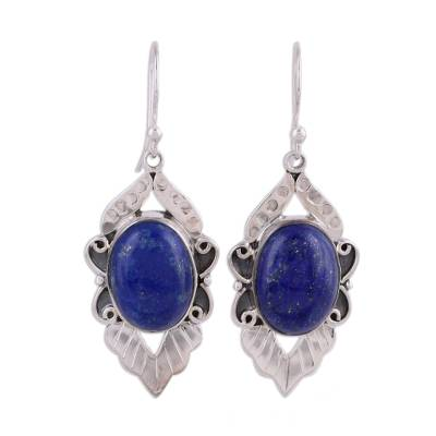 Fair Trade Sterling Silver and Lapis Lazuli Earrings