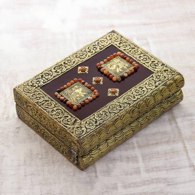Brass jewelry box, Elephant Heralds