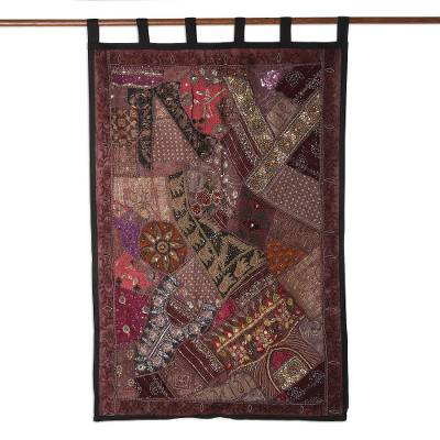 Cotton Sequins and Beads Wall Hanging from India