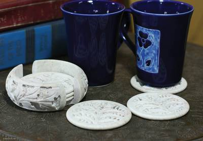 Soapstone coasters (Set of 6)